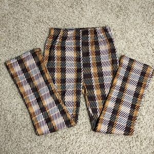 Free People houndstooth brown skinny pant